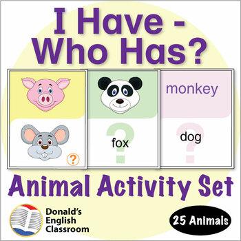 ESL Games-Animal I Have/Who Has Activity Set