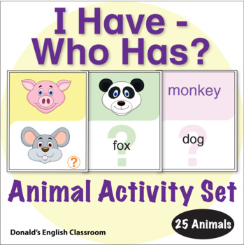ESL Games-Animal I Have/Who Has Activity Set