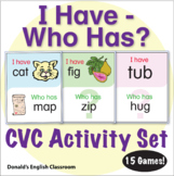 ESL Games - CVC Words - I Have Who Has Activity Set