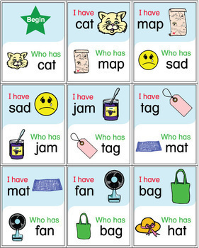 ESL Games - CVC Words - I Have Who Has Activity Set #bestsellers