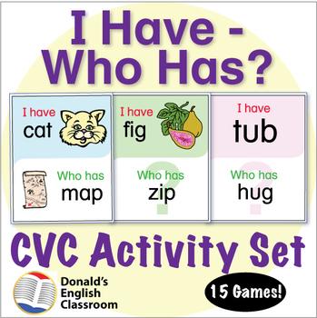 CVC Word I Have Who Has Activity Set