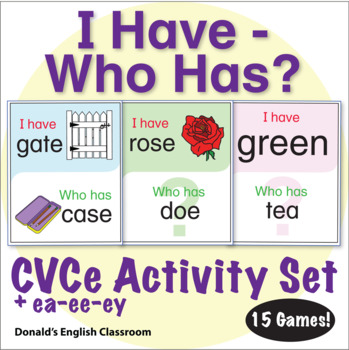 ESL Games - CVCe Words - I Have Who Has Activity