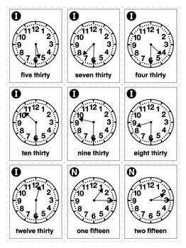ESL Games-Clock Bingo 2