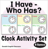 ESL Games - Clock I Have Who Has Activity Set
