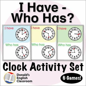 ESL Games - Clock I Have Who Has Activity Set