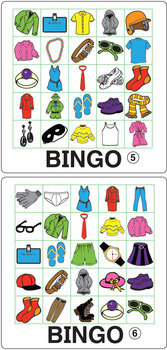 ESL Games-Clothing Bingo