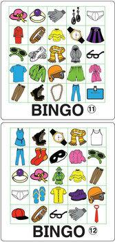 ESL Games-Clothing Bingo