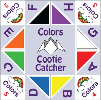 esl games cootie catchers colors by donald 39 s english classroom. Black Bedroom Furniture Sets. Home Design Ideas