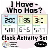 ESL Games - Digital Clock I Have Who Has Activity Set