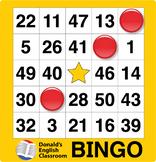 ESL Games-Easy Number Bingo 2