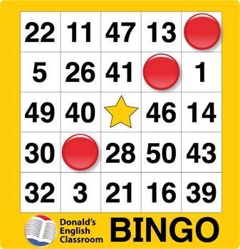 image relating to Printable Bingo Numbers 1 75 called bingo playing cards 1-75
