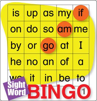 ESL Games-Easy Sight Word Bingo 1