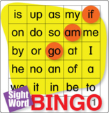ESL Games-Easy Sight Word Bingo 1