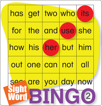 ESL Games-Easy Sight Word Bingo 2