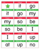 Easy Sight Word I Have Who Has Activity 1