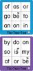 ESL Games-Easy Sight Word Tic-Tac-Toe 1