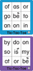 ESL Games-Easy Sight Word Tic-Tac-Toe 1