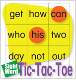 ESL Games-Easy Sight Word Tic-Tac-Toe 2