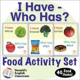 ESL Games - Food - I Have Who Has Activity Set