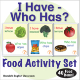 ESL Games - Food - I Have Who Has Activity Set