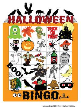 ESL Games-Halloween Bingo
