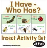 ESL Games-Insect I Have Who Has Activity