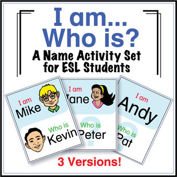 ESL Games - Names - I Am Who Is Activity