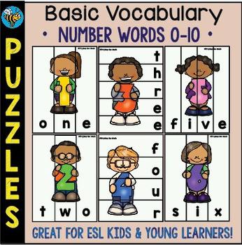 ESL Games: Number Words 0-10 Puzzles