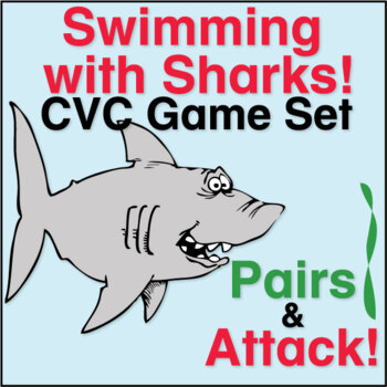 ESL Games - Swimming with Sharks! CVC Game Set