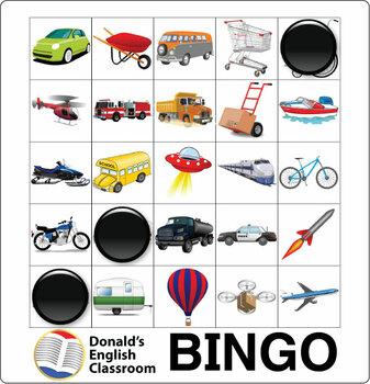 ESL Games-Transportation Bingo