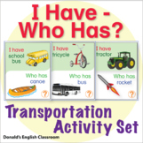ESL Games-Transportation I Have Who Has Activity Set