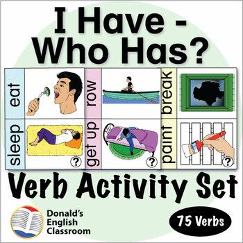 ESL Games-Verb I Have Who Has Activity