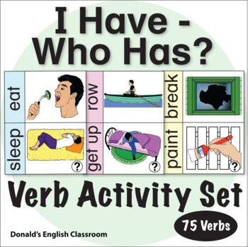 Verb I Have Who Has Activity
