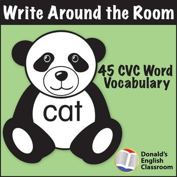 CVC Word Write Around the Room Panda Pack