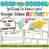 ESL Getting To Know You   My Country   Google Slides for Distance Learning
