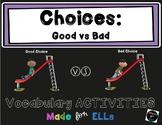 ESL Good vs Bad Choices Vocabulary Activities