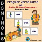 ESL Grammar: Irregular Verbs Domino Game - set 1