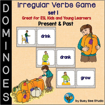 ESL Grammar: Irregular Verbs Domino Game - set 1