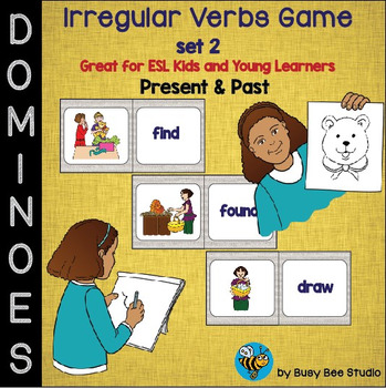 ESL Grammar: Irregular Verbs Domino Game - set 2