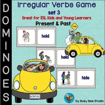 Irregular Verbs Domino Game - set 3