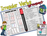 ⭐ESL Grammar - Irregular Verbs - grouped-⭐