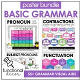 ESL Grammar Posters : Contractions, Pronouns, Punctuation