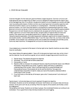 ESL Grammar: Sentences, Punctuation, and Capitalization