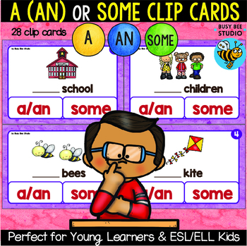 """ESL Games: Grammar Task Cards """"A or some? Countable Nouns"""""""