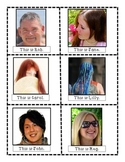 ESL Hair Color Writing Prompt Pictures and Scaffold Posses