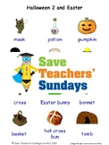 ESL Halloween 2 & Easter Worksheets, Games, Flash Cards & More (with audio)