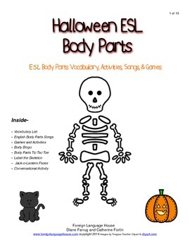 ESL Halloween Body Parts