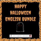 ESL - ELL Halloween Games and Speaking Activities Bundle