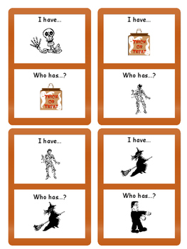 ESL Halloween  I have/Who has…. Card Game- ESL Halloween Vocabulary