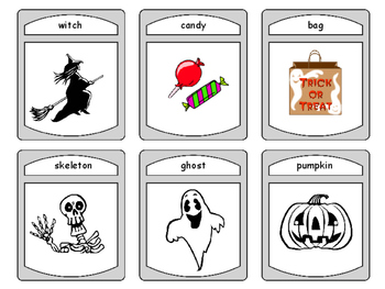 ESL Halloween Spoons Card Game -Halloween Vocabulary in English